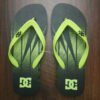 DC SANDALS SPRAY black / fluorescent green