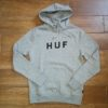 HUF ESSENTIALS OG LOGO P/O HOODIE grey heather