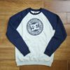 DC CIRCLE STAR CREW RAGLAN black iris / grey heather