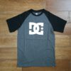 DC STAR SS RAGLAN black / charcoal heather