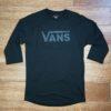VANS CLASSIC RAGLAN black / black