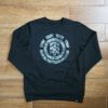 ELEMENT BARK LOGO CREW flint black