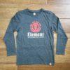 ELEMENT VERTICAL LS BOY charcoal heather