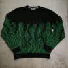 OCTOPUS ASCII CREWNECK green black
